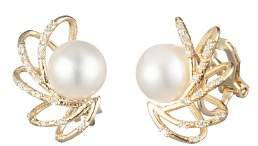 Carolee Caged Spray Cultured Freshwater Pearl Clip-On Earrings