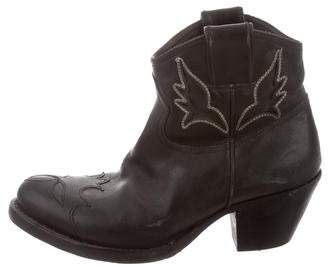 Golden Goose Distressed Leather Ankle Boots
