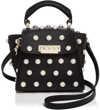 ZAC Zac Posen Eartha Iconic Lady Faux-Pearl Top Handle Mini Leather Crossbody $295 thestylecure.com