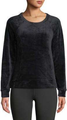 Marc Ny Performance Luxe Stretch Velvet Raglan Sweatshirt