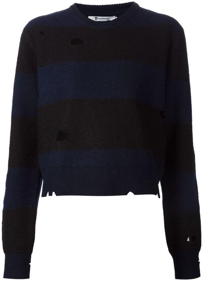 Alexander WangT By Alexander Wang distressed sweater