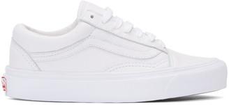 Vans White OG Old Skool LX Sneakers $100 thestylecure.com