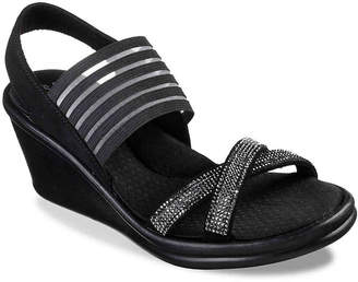 5a1a5b11b31e Skechers Cali Rumble Modern Maze Wedge Sandal - Women s