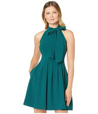 Vince Camuto Kors Crepe Fit Flare w/ Bow Neck