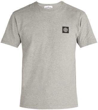 Stone Island Logo-patch cotton T-shirt