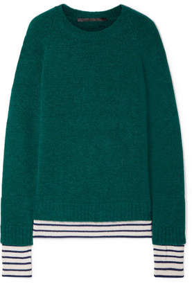 Haider Ackermann Striped Wool-blend Sweater - Emerald