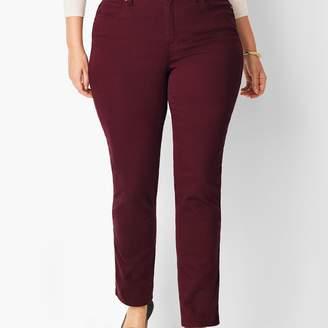 Talbots Plus Size Comfort Stretch High-Rise Straight-Leg Jeans - Merlot