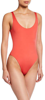 Skin The Lana Maillot Reversible Scoop-Back One Piece Swimsuit