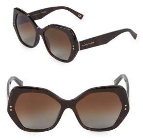 Marc Jacobs 56MM Hexagon Sunglasses