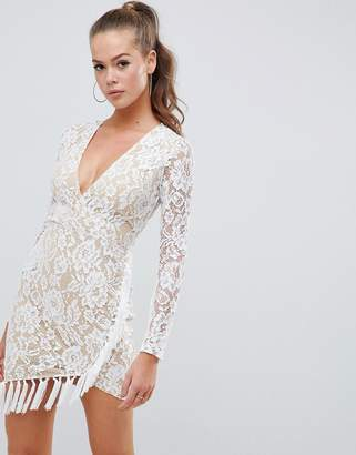 AX Paris lace dress with tassle detail