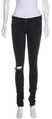 Elizabeth and James Distressed Low-Rise Jeans