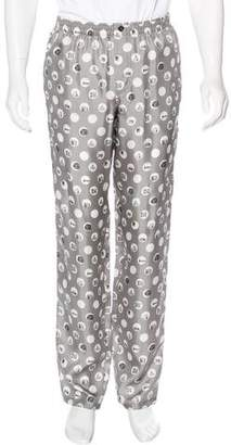 Dolce & Gabbana Polka Dot Silk Lounge Pants w/ Tags