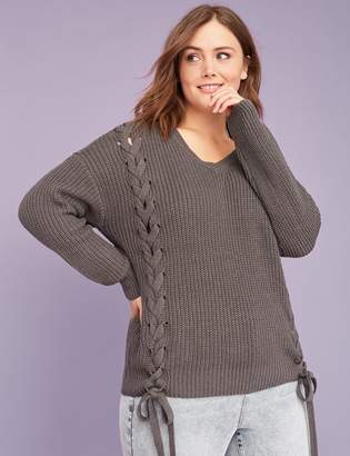 Lane Bryant Side Lace-Up Sweater