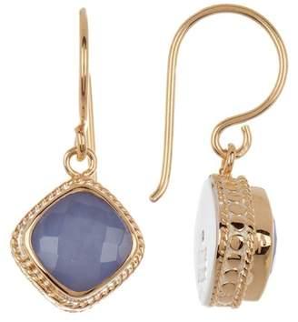 Anna Beck Blue Chalcedony Cushion Drop Earrings
