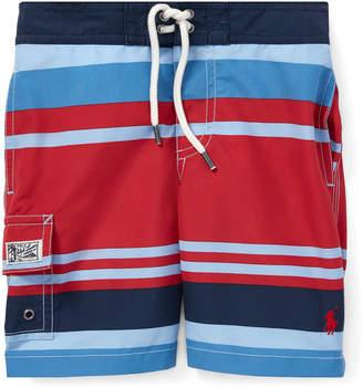 Trunks Ralph Lauren Childrenswear Kailua Striped Swim Trunks, Size 5-7