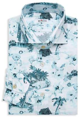Birds In The Trees Dress Shirt