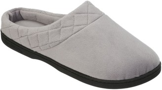 Dearfoams Microfiber Velour Slippers with Quilted Cuff