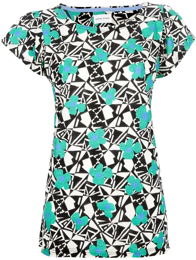Tsumori Chisato mixed print t-shirt