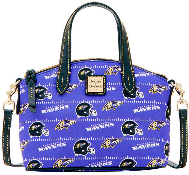 Dooney & Bourke Baltimore Ravens Nylon Mini Crossbody Satchel - BLACK - STYLE