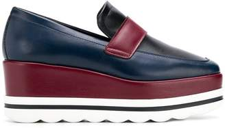 Pollini wedge loafers