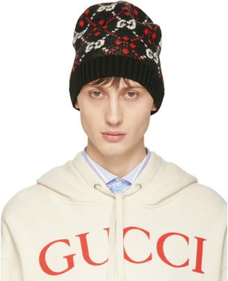 Gucci Black GG Supreme Diamond Beanie