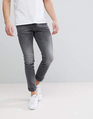 Blend of America Cirrus Skinny Fit Jeans Denim Gray