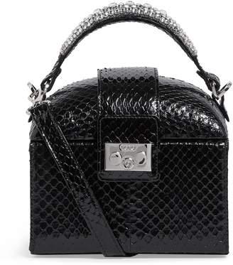 Rodo Elaphe Snakeskin Box Clutch Bag