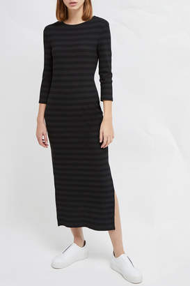 French Connection LONG SLEEVE JERSEY MIDI DRESS