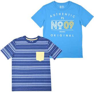 Aeropostale PS Ps Short Sleeve Round Neck 2 Pack T-Shirt-Big Kid Boys