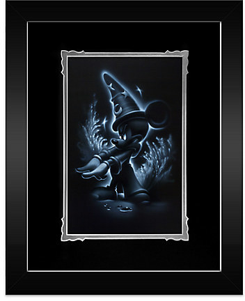 Disney ''Sorcerer Mickey'' Framed Deluxe Print by Noah