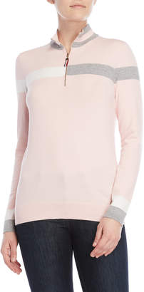 Tommy Hilfiger Mock Neck Quarter-Zip Pullover