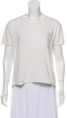 Line Scoop Neck Short Sleeve T-Shirt