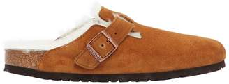 Birkenstock Boston Shearling & Suede Mules