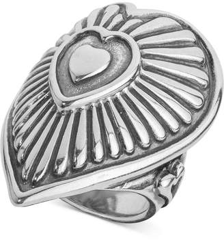 American West Decorative Heart Ring in Sterling Silver