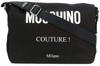Moschino logo messenger bag