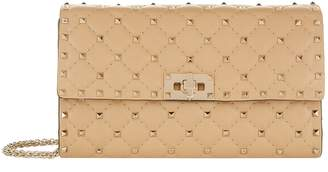 Valentino Leather Rockstud Spike Clutch Bag