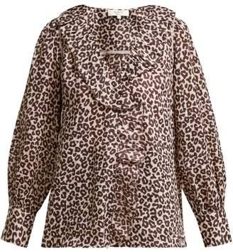 Sea Lottie Ruffled Leopard Print Blouse - Womens - Leopard dfc068523