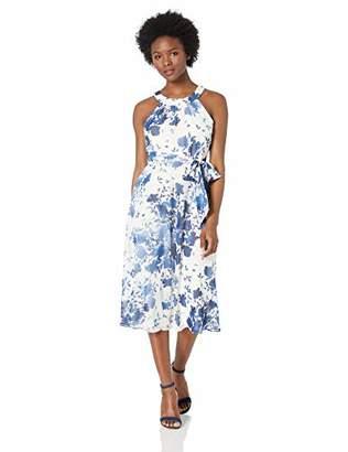 Jessica Howard Women's Petite Halter Neck Midi Dress