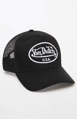 Von Dutch 51 Black Snapback Trucker Hat