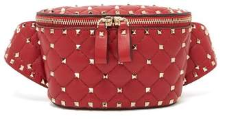 Valentino Rockstud Spike Belt Bag - Womens - Red