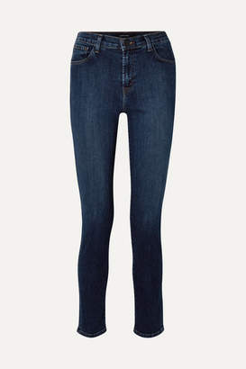 J Brand Ruby 30 High-rise Slim-leg Jeans - Dark denim