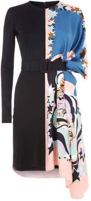 Emilio Pucci Asymmetric Floral Dress