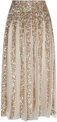 Alice + Olivia Samira Sequin Embellished Midi Skirt