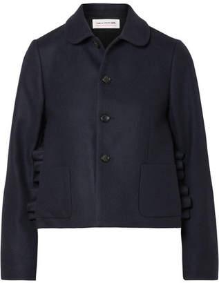Comme des Garcons Ruffled Wool Jacket - Navy