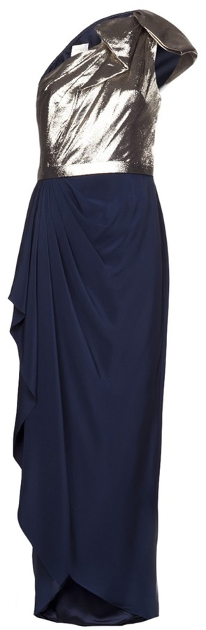 Notte by Marchesa one shoulder gown