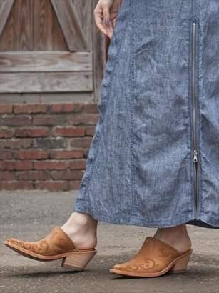 goa (ゴア) - - LB Embroidery Leather Slipper