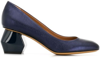Emporio Armani geometric heel pumps