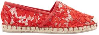 Valentino Red Cloth Flats