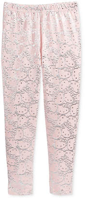 Hello Kitty Metallic-Print Leggings, Toddler Girls
