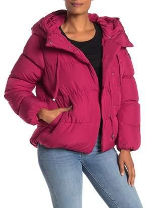 Jessica Simpson Hooded Asymmetrical Zip High/Low Puffer Jacket